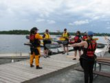 Kayak paddling lesson time!